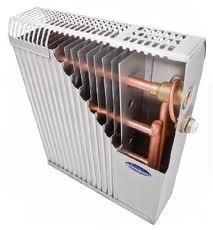 Медно-алюминиевые радиаторы отопления, разрез