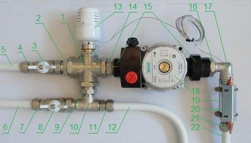 Смесительный узел для теплого пола Valtec на один контур