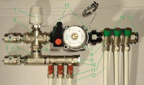 Смесительный узел для теплого пола Valtec Base на 2 - 4 контура