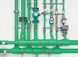 Схема отопления из полипропиленовых армированных труб.